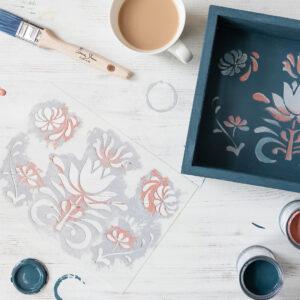The Big Paint – międzynarodowe warsztaty online – malujemy tacę