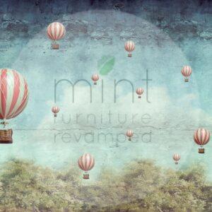 Balloons – papier do decoupage Mint by Michelle